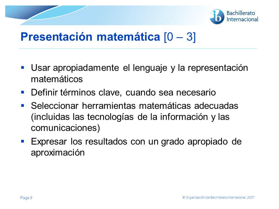 Presentación matemática [0 – 3]